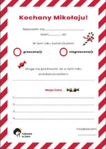 Zdjęcie listu do św Mikołaja w niskiej jakości